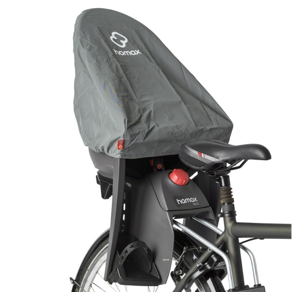 Hamax child bike seat rain cover grey