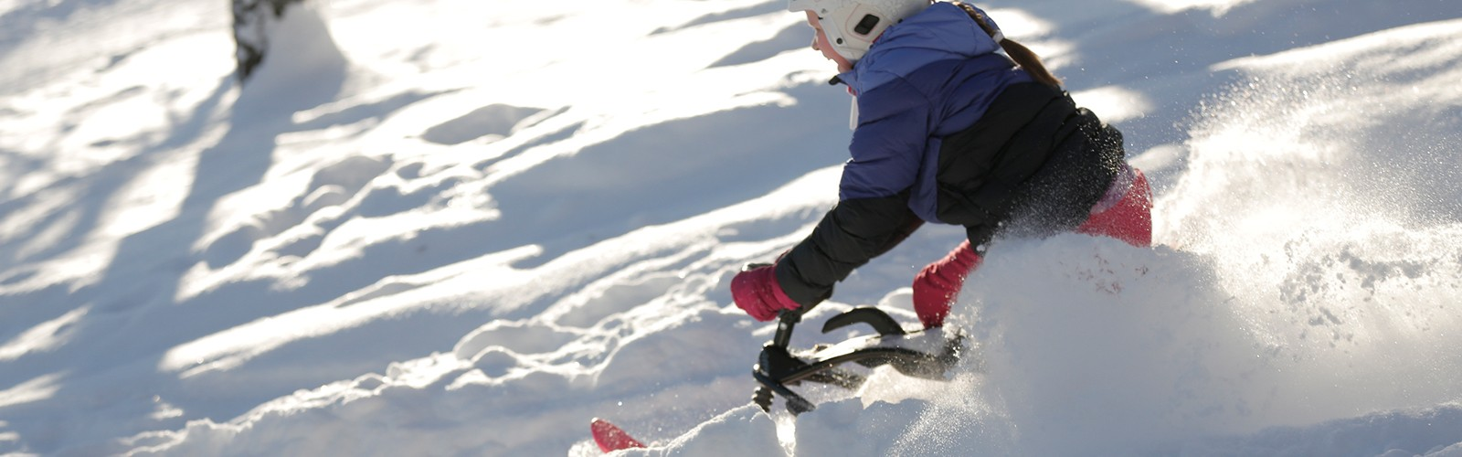 Hamax snow sledges children having fun