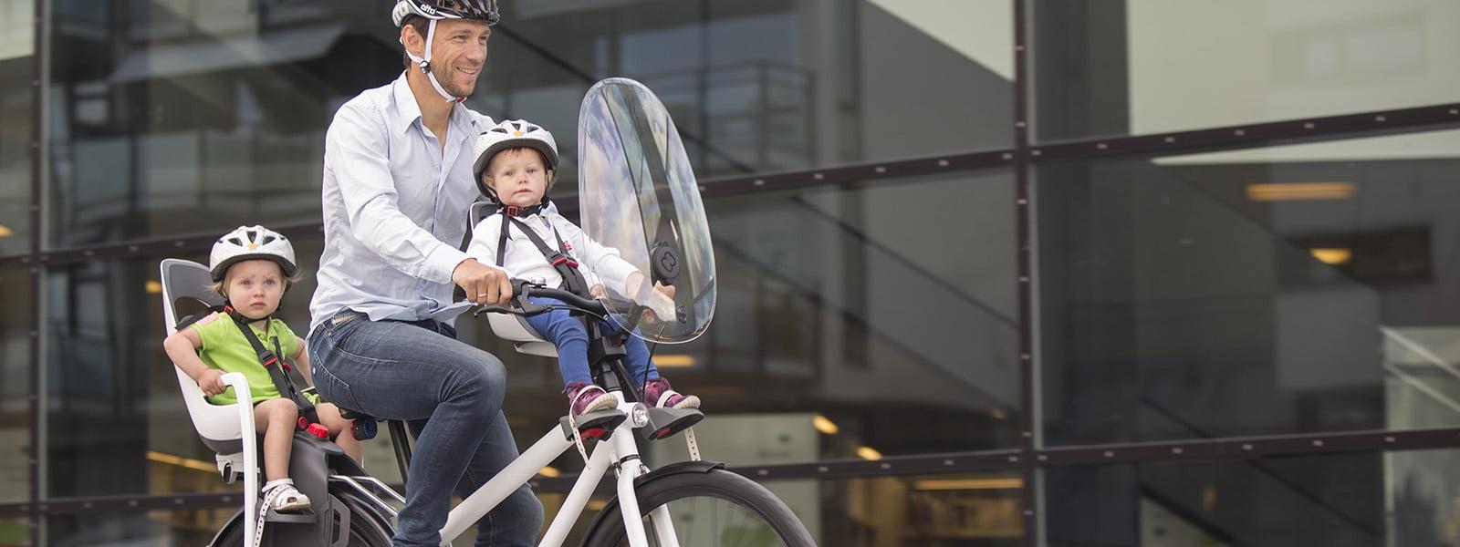 Hamax caress child bike seat and observer frontmounted child bike seat