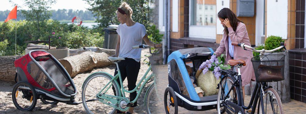 Choose Hamax outback biketrailer or Hamax Avenida biketrailer