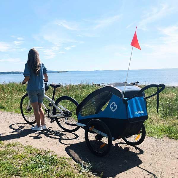 Hamax Traveller bike trailer, blue